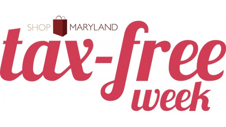 Get Ready! Maryland Tax-Free Shopping Week starts tomorrow!
